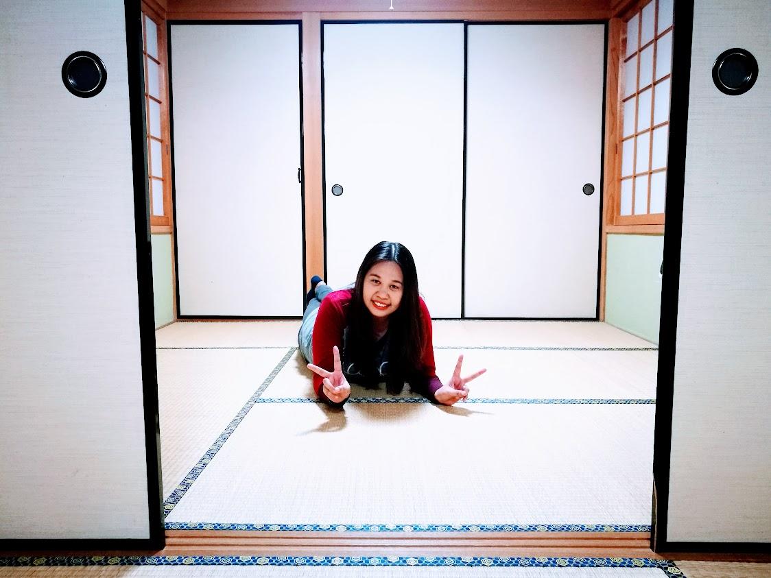tatami floor, Fukuoka AirBnB