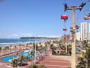The cable cars at the Durban Funworld.