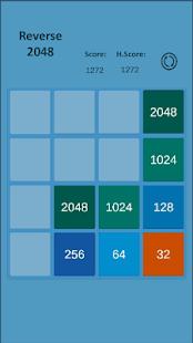 Reverse 2048 - náhled