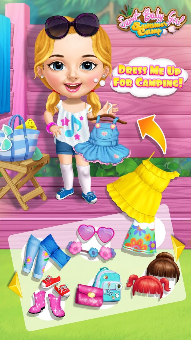 Sweet Baby Girl Summer Camp - Kids Camping Club Android 3