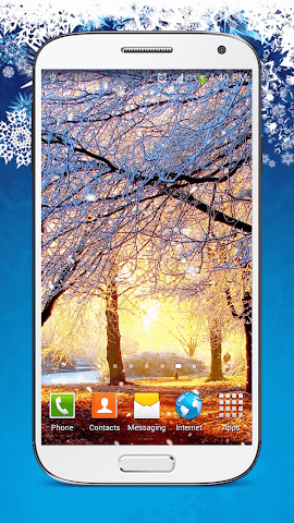 android Snow Live Wallpaper HD Screenshot 2