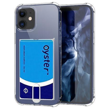 iPhone 12 - Skyddande Floveme Skal med Korthållare