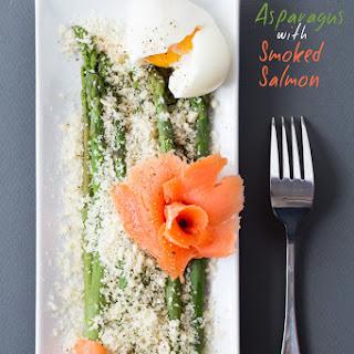 Parmesan Asparagus with Smoked Salmon.
