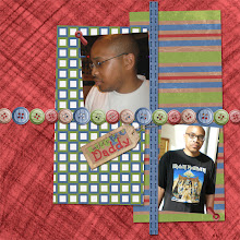 """Photo: Quick page design, """"Dear Old Dad"""" by Just For You Digi Scraps.  Created June 21, 2009"""