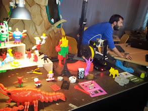 Photo: Exposición de piezas en 3D