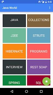 Java World, J2EE, Core Java, Struts, Hibernate, - náhled