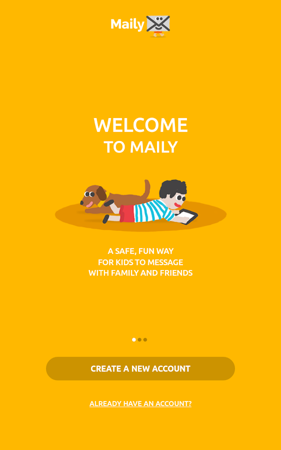Maily your kids' first email- screenshot