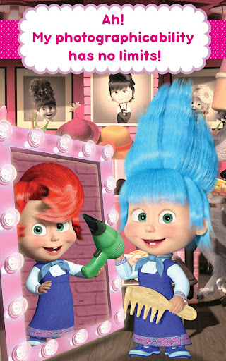 Masha and the Bear: Hair Salon and MakeUp Games 1.1.8 screenshots 14