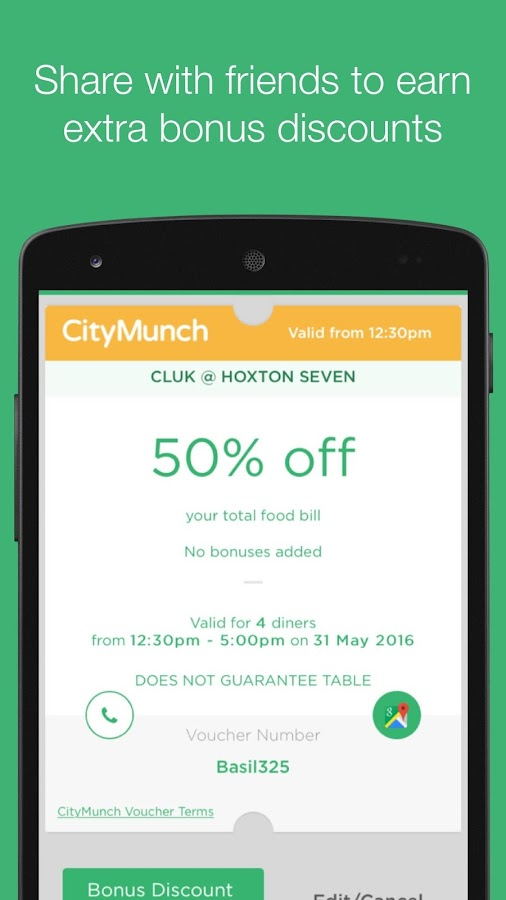 CityMunch - Dining Discounts- screenshot