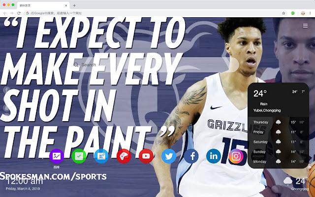 Memphis Grizzlies New Tab