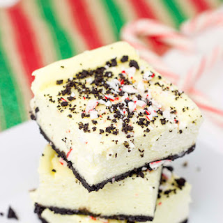 Peppermint Mocha Cheesecake Bars