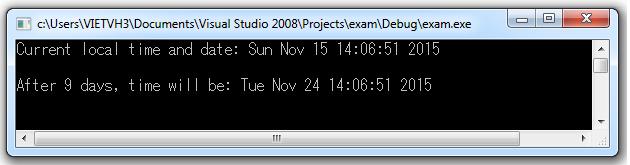 Hàm mktime convert thời gian định dạng tm sang định dạng time_t