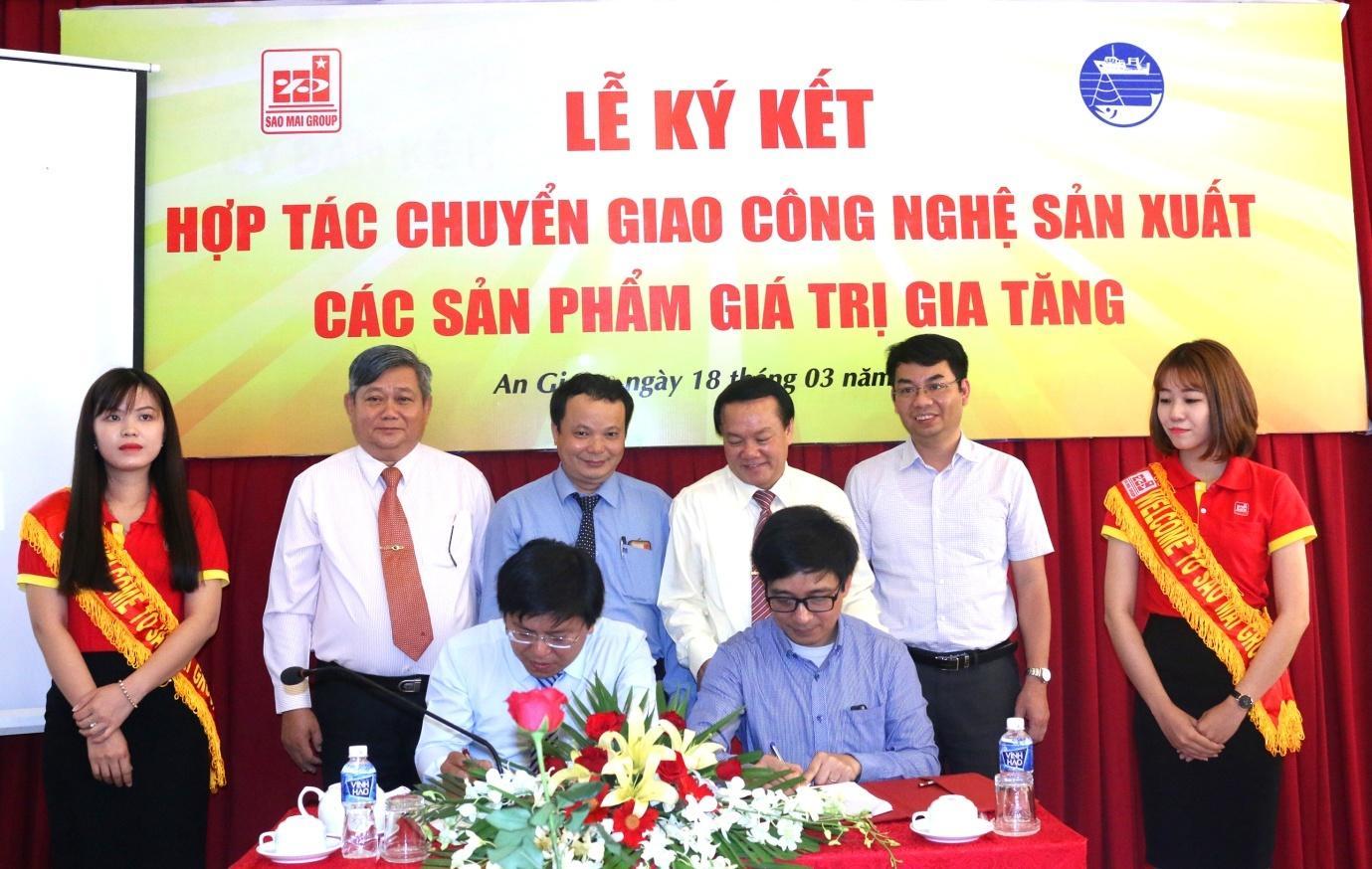 Viện nghiên cứu Hải sản ký hợp tác toàn diện  với Tập đoàn Sao Mai