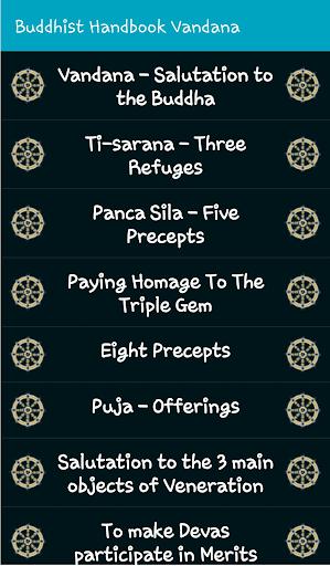 Handbook Of Buddhist Vandana