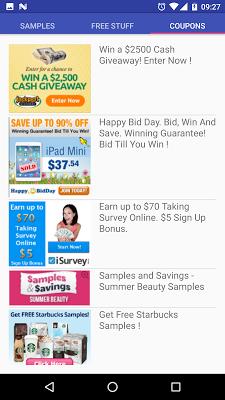 Free Stuff And Coupons - screenshot