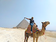 Mabasa at Giza  pyramids.  /Supplied