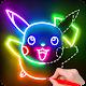 Draw Glow Cartoon - How to draw apk