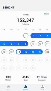 Schrittzähler - Gratis Pedometer & Kalorienzähler Screenshot
