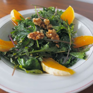 Orange Infused Walnut Kale Salad