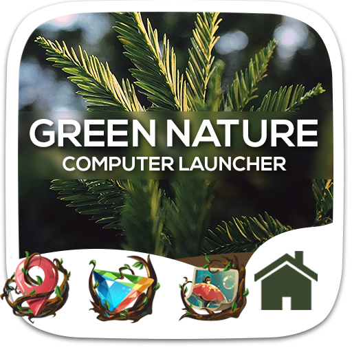Green Nature Theme For Computer Launcher