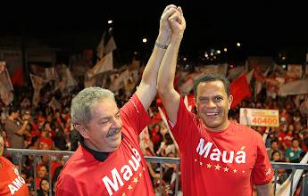Photo: Lula e Donisete Braga, candidato a prefeito em Mauá. Foto: Ricardo Stuckert/Instituto Lula