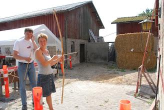 Photo: Bueskydning med langbue lavet af dansk takstræ