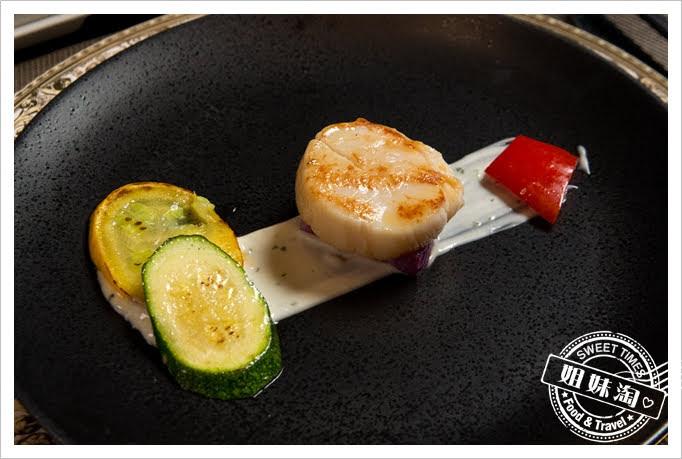 家蒂諾鐵板燒溫莎花園日本干貝