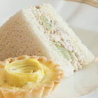 Green Grape–Chicken Salad Tea Sandwiches.