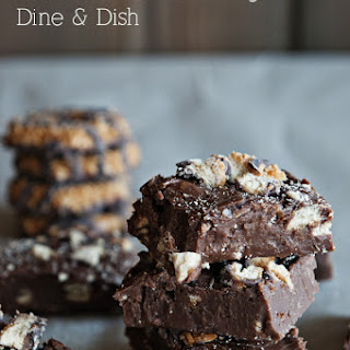 Girl Scout Cookie Fudge