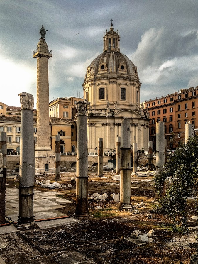 Columna Traiani by Alice Lustah - Buildings & Architecture Public & Historical ( landmark, travel, , people, crowd, humanity, society )