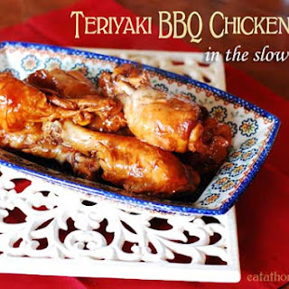 Teriyaki BBQ Chicken Legs in the Slow Cooker.
