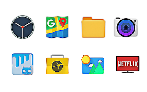 WaterColors - Icon Pack Screenshot