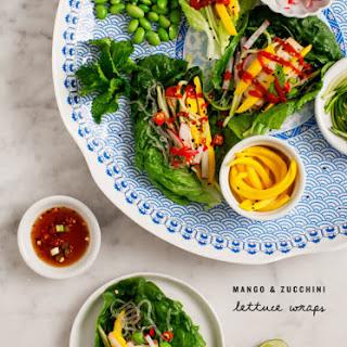 Mango & Zucchini Lettuce Wraps.