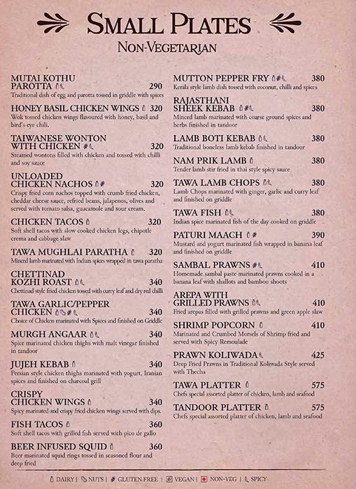 Shakesbierre menu 7