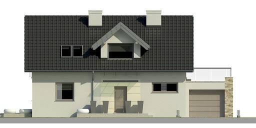 Dom przy Alabastrowej 9 - Elewacja przednia