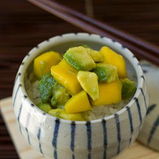 Avo-don (Avocado Mango Donburi)