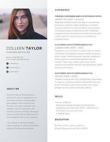 Colleen F. Taylor - Resume Template
