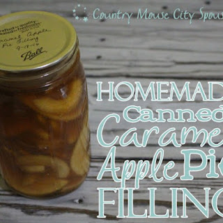 Homemade Canned Caramel Apple Pie Filling.