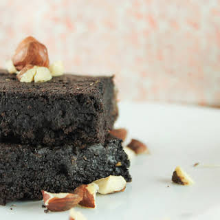 Dark Chocolate Hazelnut Brownies.