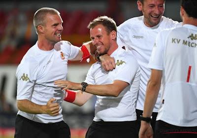 """T1 ad interim triomfeerde met KV Mechelen in afwachting van Ferrera: """"3 op 3 is een mooi gemiddelde"""""""