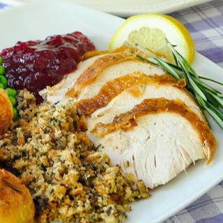 Lemon Rosemary Brined Roasted Turkey Recipe