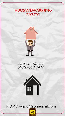android Housewarming Invitation Maker Screenshot 0
