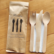 Number of disposable cutlery