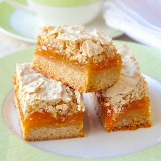 Apricot Coconut Meringue Bars