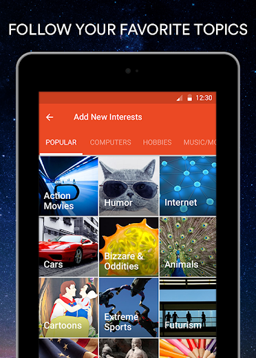 Screenshot 12 for StumbleUpon's Android app'