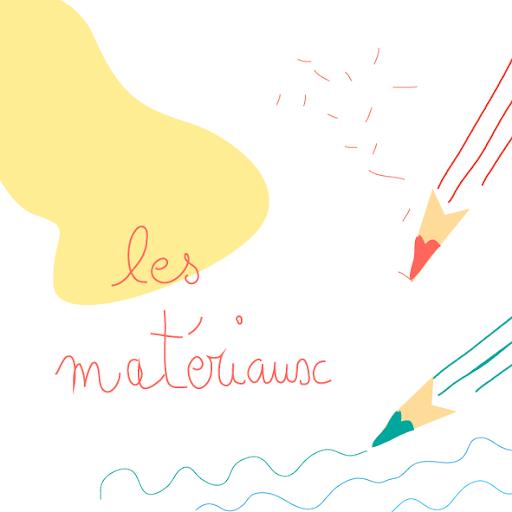 les matériaux - aquarelle - crayons - affiches pour enfants