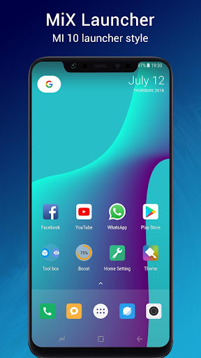 Mi X Launcher ? - MI 10 Launcher + 4.1 screenshots 1