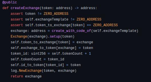 createExchange-code