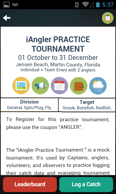 iAngler Tournament- screenshot