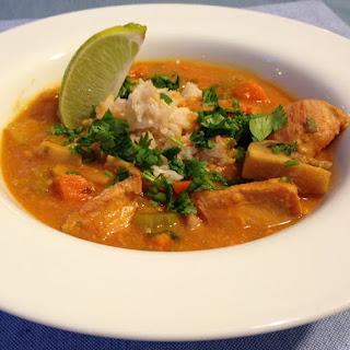Slow Cooker Thai-Style Chicken Pumpkin Soup.